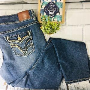 Maurices Skinny Jean Embellished Pockets XL